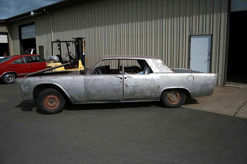 Lamberts 1965 Lincoln Continental before restoration