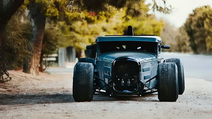 Hot Rod Model A Ford on ford flathead v8
