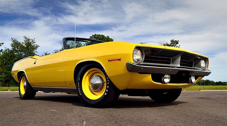 1970 Plymouth Hemi 'Cuda convertible that sold for $2,675,000