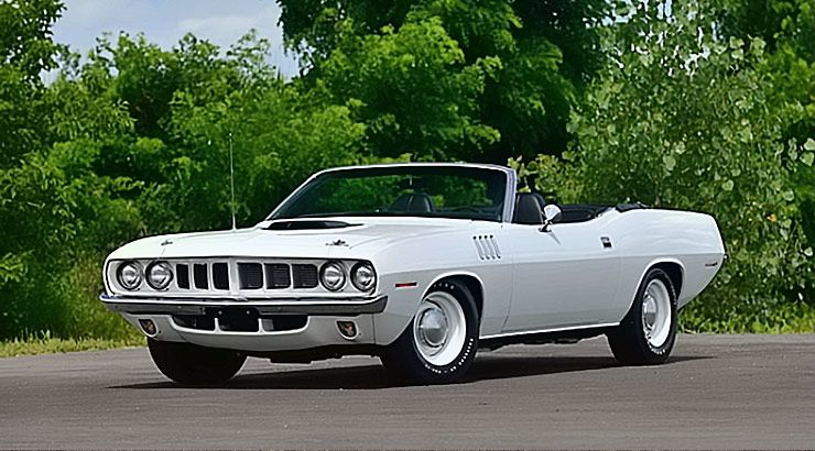 1971 Plymouth Hemi 'Cuda convertible that brought $2.3 million