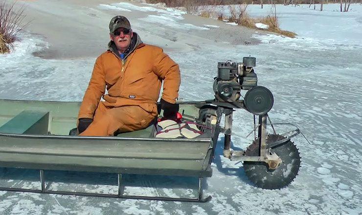 Ice Sled Boat