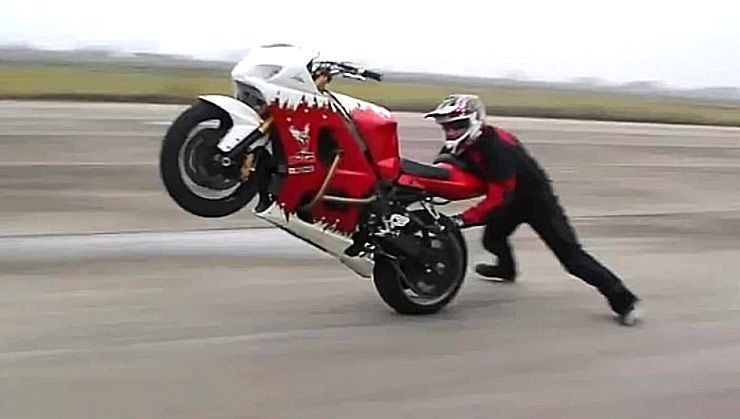 Gangnam Style Motorcycle Stunts