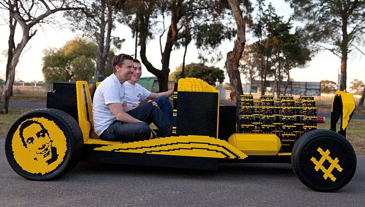 Lego Car Built from Half a Million Lego Pieces