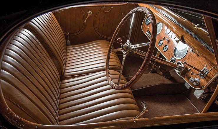 1938 Bugatti Type 57C Atalante interior