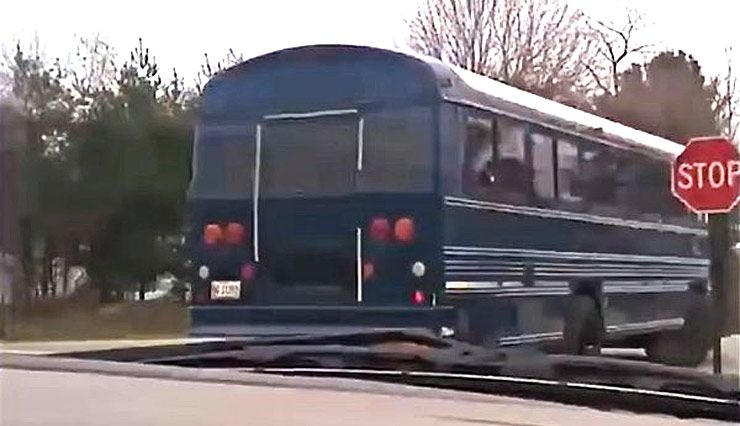School Bus was steal by boy in Maine