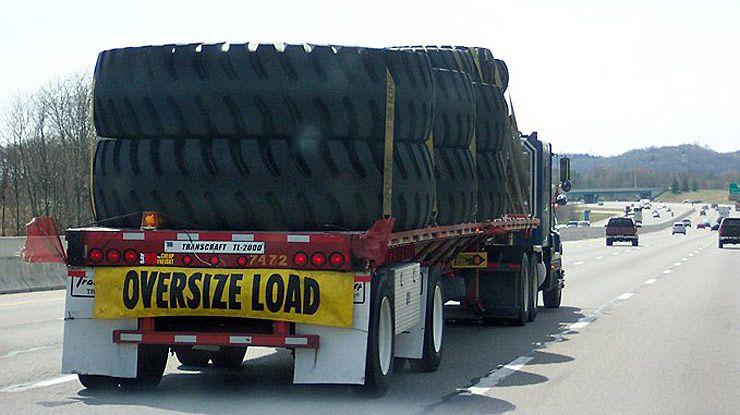 transporting huge tires