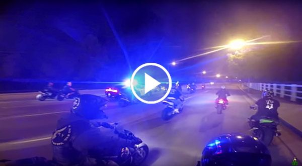 Cops chases motorcycles