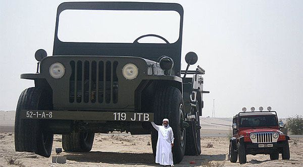 Rainbow Sheikh_with_worlds _largest_Willys_Jeep