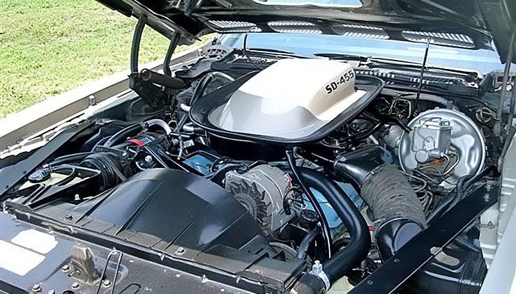 1973 Pontiac Firebird Formula 455 engine