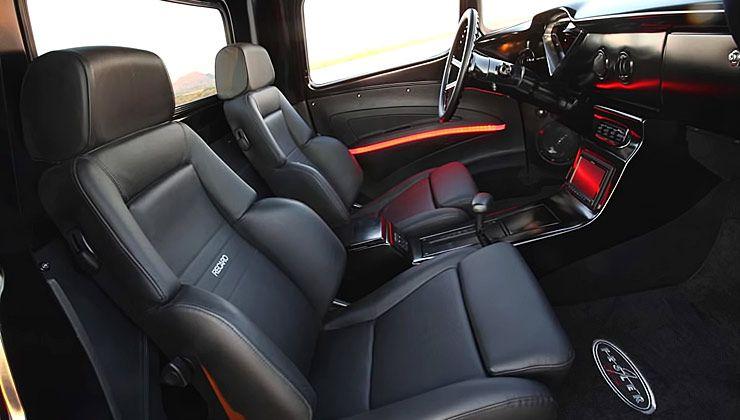 Fesler Built 1958 Chevy Truck interior