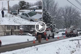 comcast-workers-park-their-trucks-on-snowy-street-causing-multiple-car-wrecks