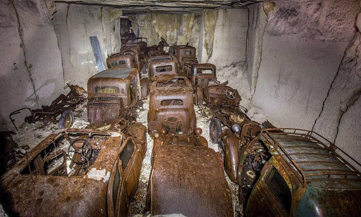 vehicles-stashed-in-french-quarry-are-discovered-70-years-later