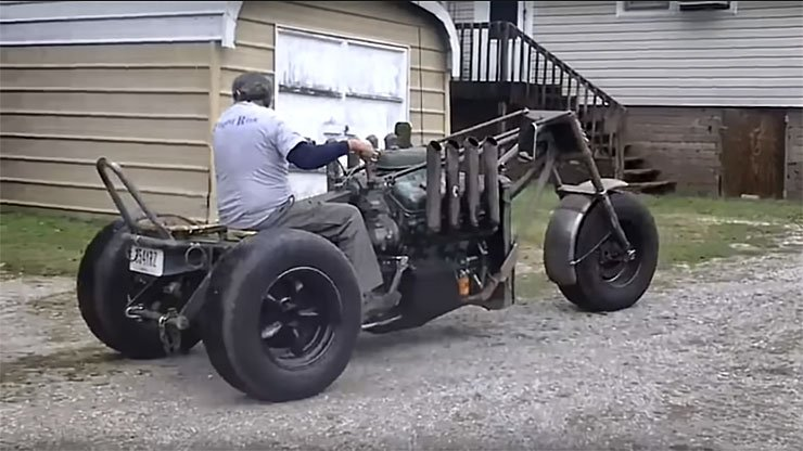 Diesel Powered Rat Rod Trike