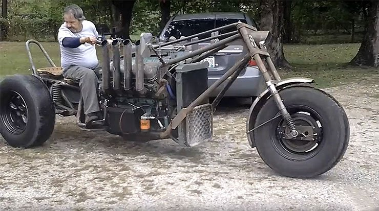 Mad Max Motorcycle >> The Absolute Badass Detroit Diesel V8 Powered Rat Rod Trike - ThrottleXtreme