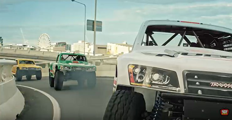 baja off-road racing trucks in banned ad