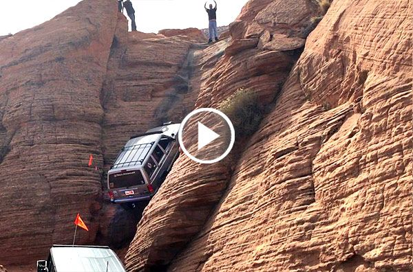 Nissan Rock Hill >> Watch This Jeep Cherokee Climbs Almost 90 Degrees Vertical ...