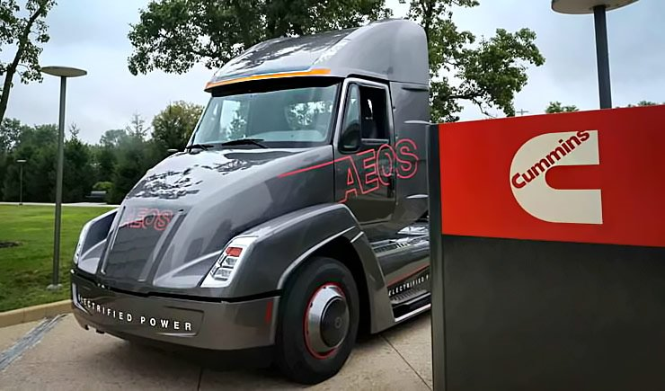 Diesel Giant Cummins Announces First All Electric Semi Truck