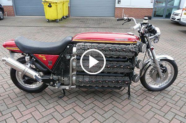 This 48 Cylinder Kawasaki Is One Insane Motorcycle