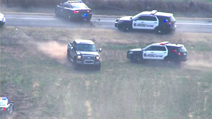 Driver in Stolen Truck Leads Police Through Fields During