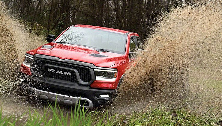 2019 Ram 1500 Rebel off roading