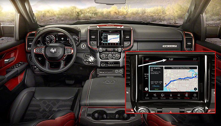 2019 Ram Rebel 1500 interior