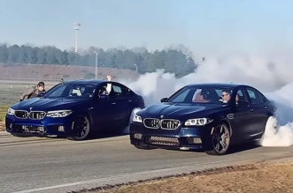 BMW M5 drifting world record