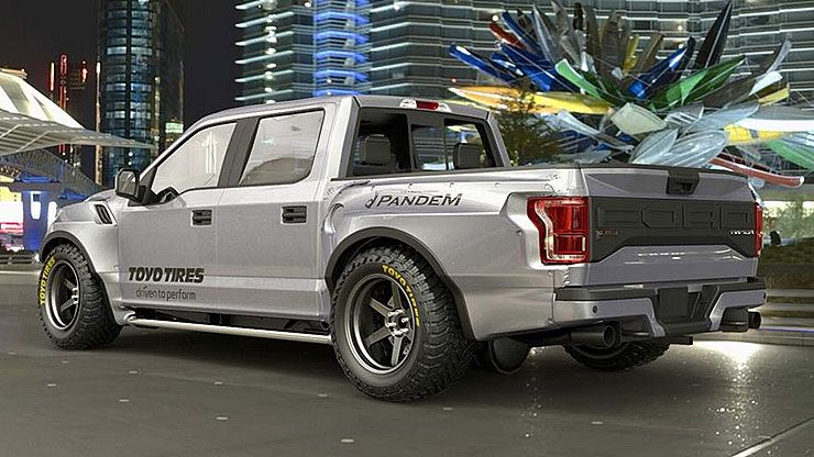 Pandem wide-body Ford F-150 Raptor