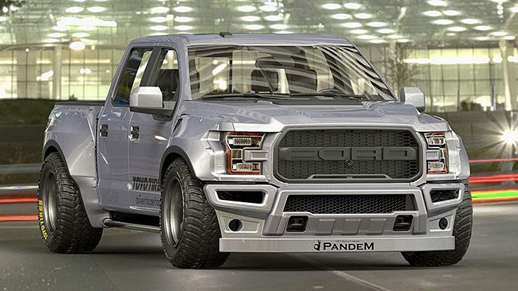 Pandem widebody Ford F-150 Raptor front
