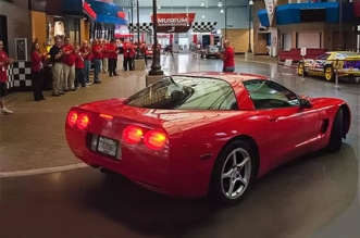 This 1999 Corvette with 773000 miles was donated to the Corvette Museum