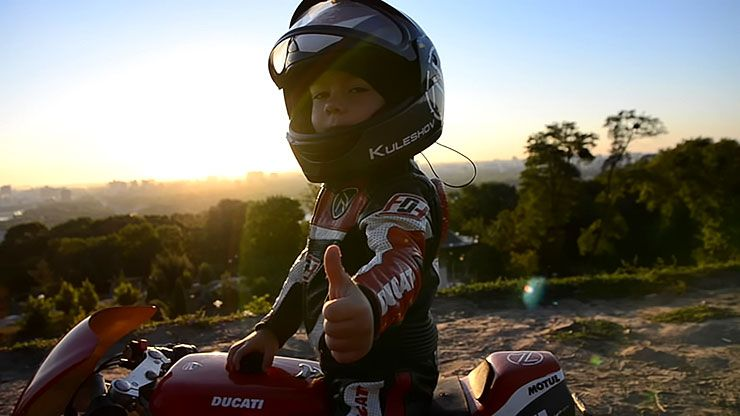 Tima Kuleshov - 4-year-old motorcyclist