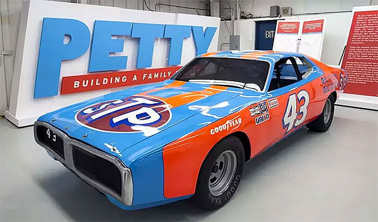 1974 Dodge Charger that Richard Petty drove to win his fifth Daytona 500 race