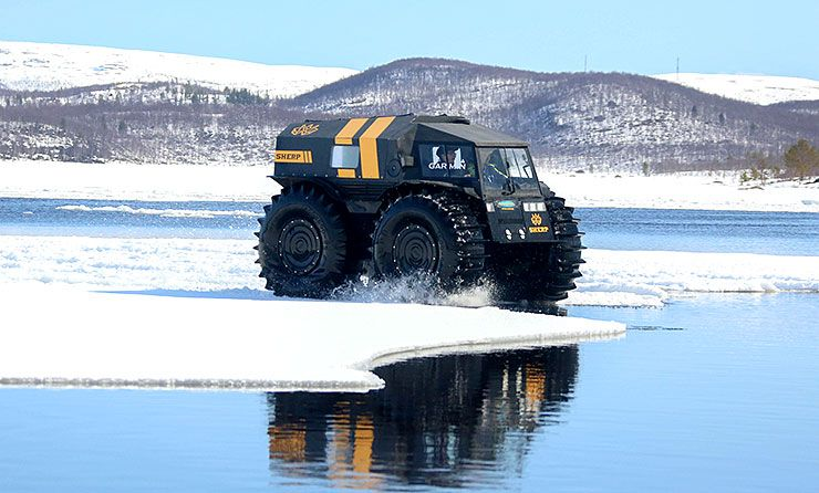 Russian amphibious vehicle Sherp