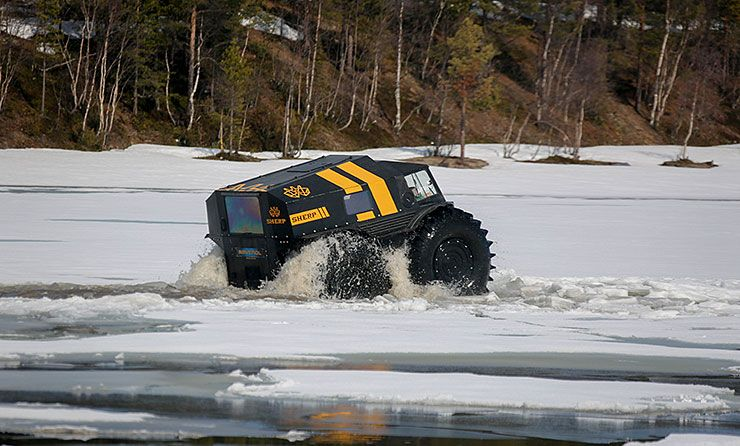 The Sherp ATV is the ultimate amphibious vehicle