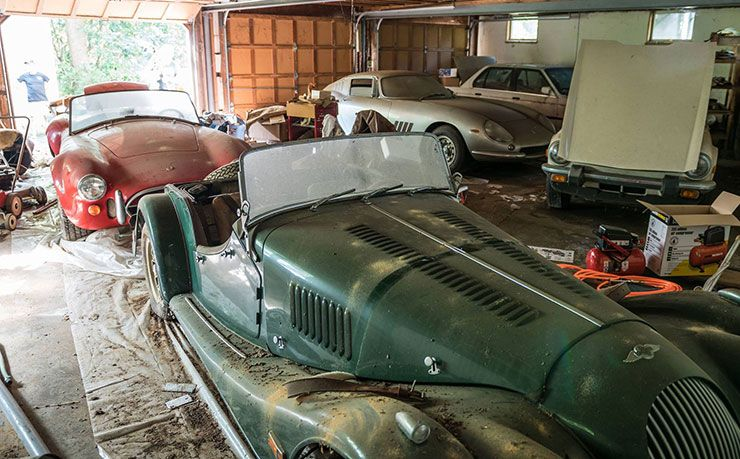 collection of forgotten rare cars discovered in a North Carolina garage