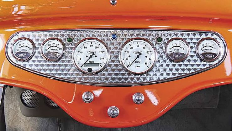 1932 Ford Five-Window Coupe Street Shaker dashboard