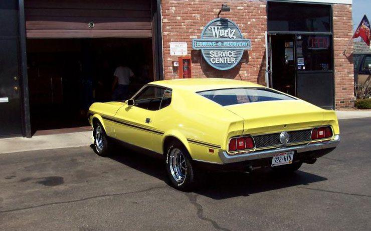 971 Boss 302 Mustang prototype rear