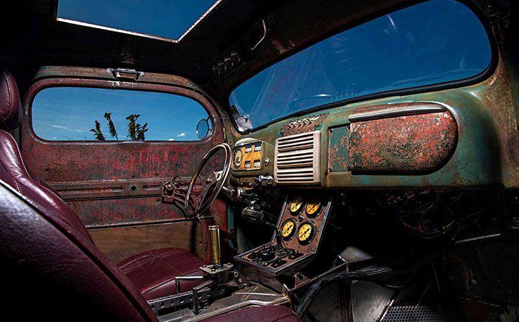 Blasfamous 1949 Ford pickup rat rod interior