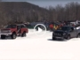Chevy Blazer vs Ford Raptor in a snow drag race