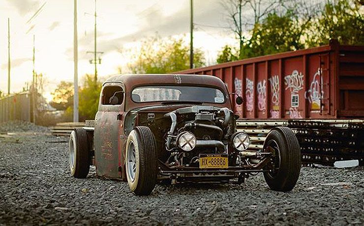 Chris Lees 1949 Ford pickup Blasfamous