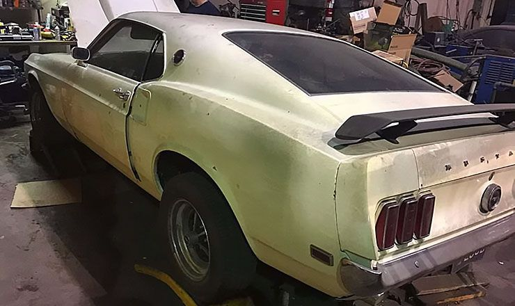rare find 1969 Boss 429 with only 15000 miles