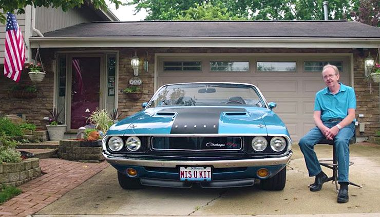 restored 1970 Dodge Challenger RT convertible