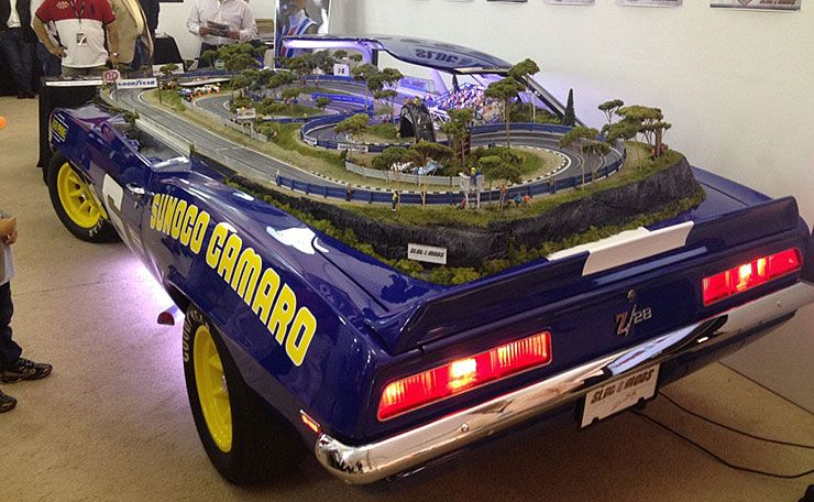 1969 Camaro converted into slot car track rear
