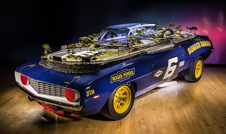 1969 Camaro converted into slot car track