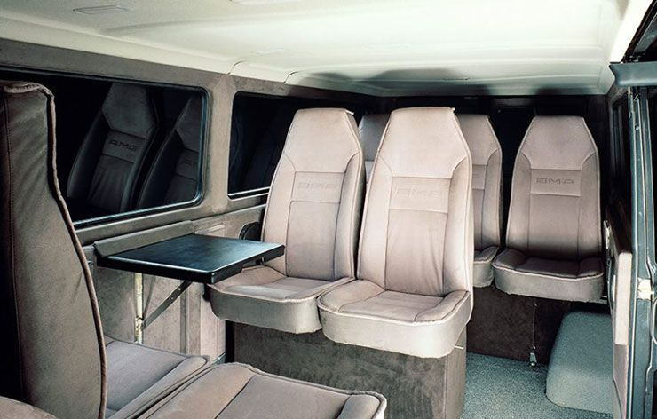 1989 AMG MB 100 D interior