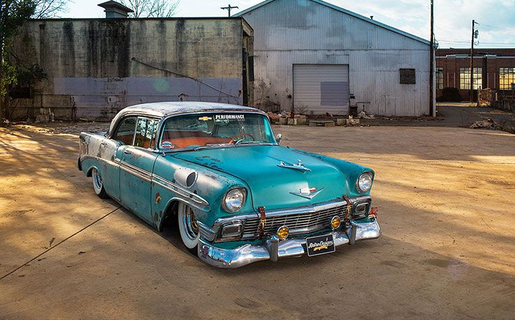 Boosted Bela 1956 Chevrolet Bel Air front