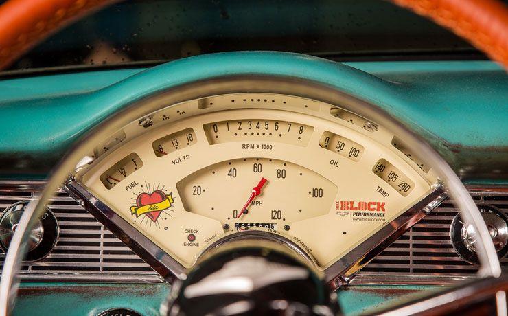 Boosted Bela 1956 Chevrolet Bel Air gauges