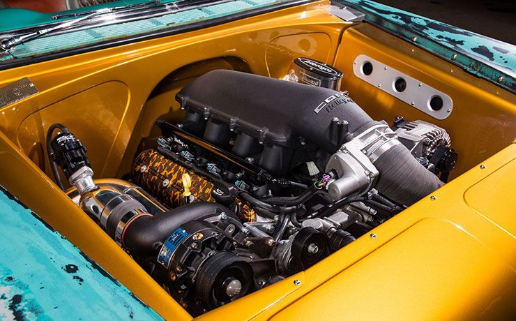Boosted Bela 1956 Chevrolet Bel Air LS3 engine