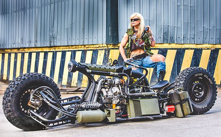 Insane Hydrostatic Twin-Turbo Diesel Motorcycle