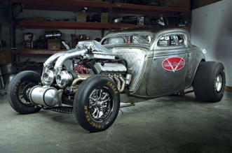 Twin-Turbo 1934 Ford coupe