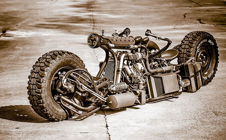 Twin-turbo Diesel Powered AWD Motorcycle